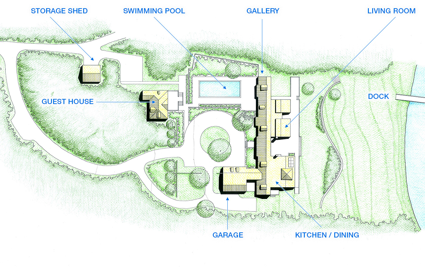 Krueger associates architects projects jones house site plan by krueger associates architects malvernweather Image collections