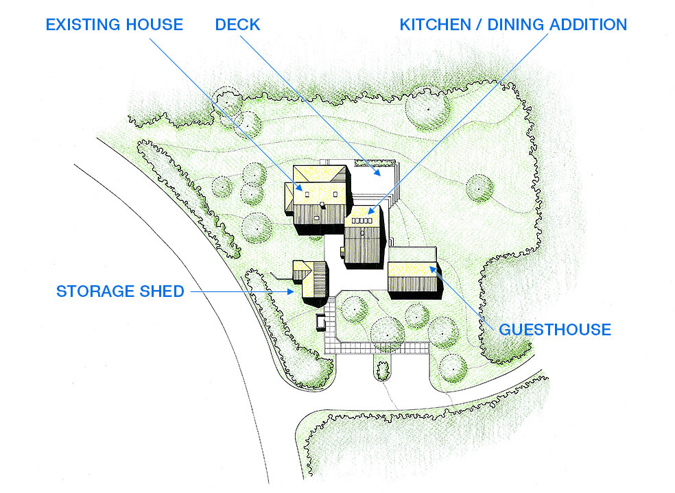 Krueger associates architects projects todd taft house site plan by kreuger associates architects cape cod malvernweather Image collections